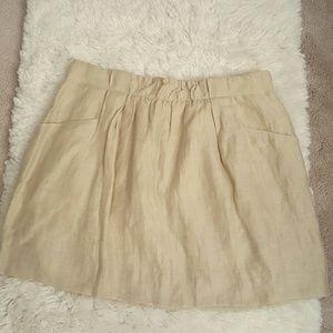 J. Crew Linen Charter Skirt
